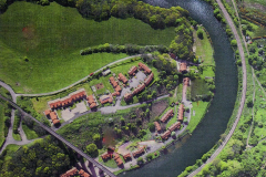 Riverside Cottage aerial view
