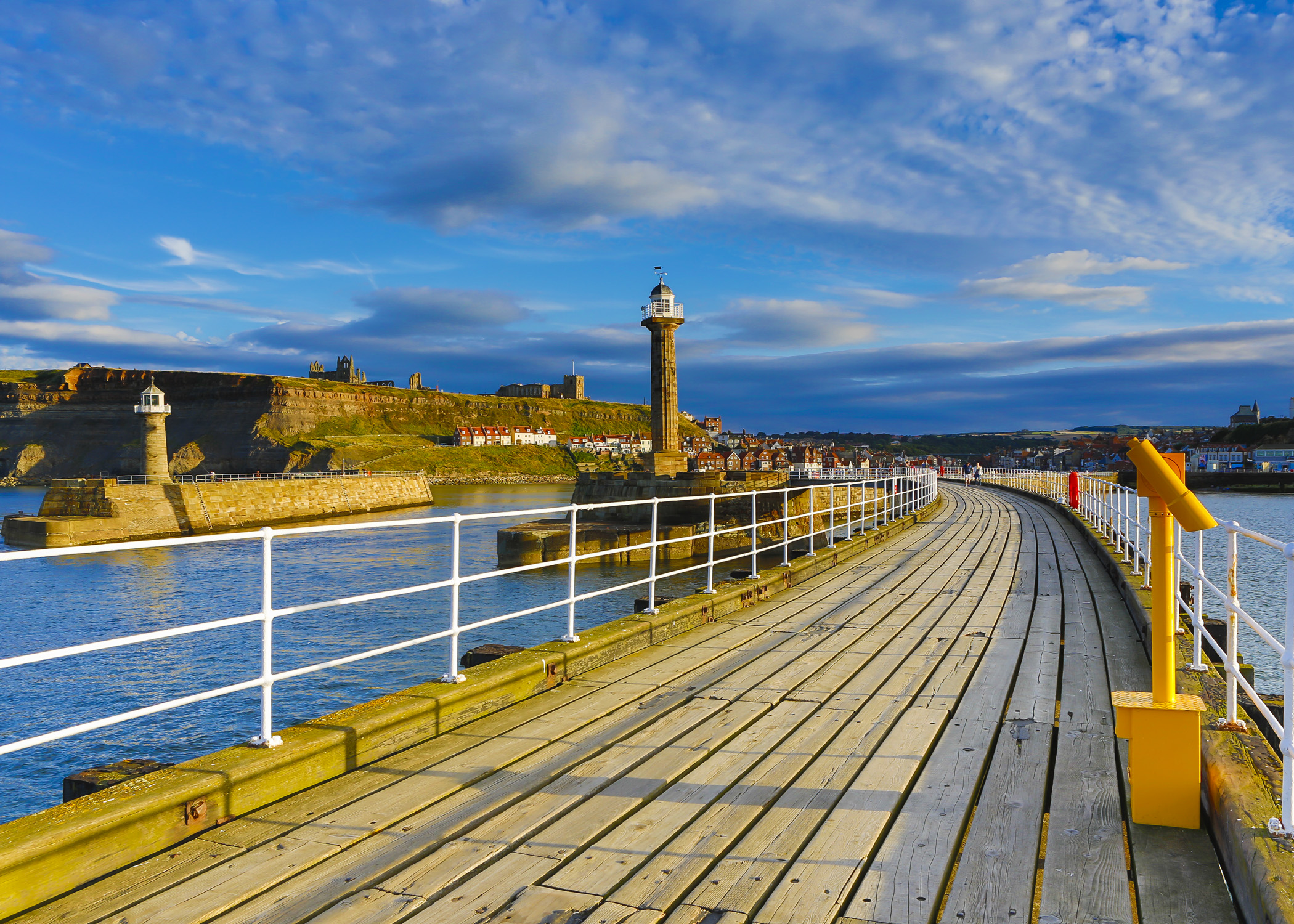 Around Whitby Pier before the sun goes down- Awd Tuts Self Catering Cottage